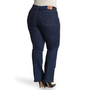 Levi's 415 Slimming Boot Cut Jeans Dark Wash 24W